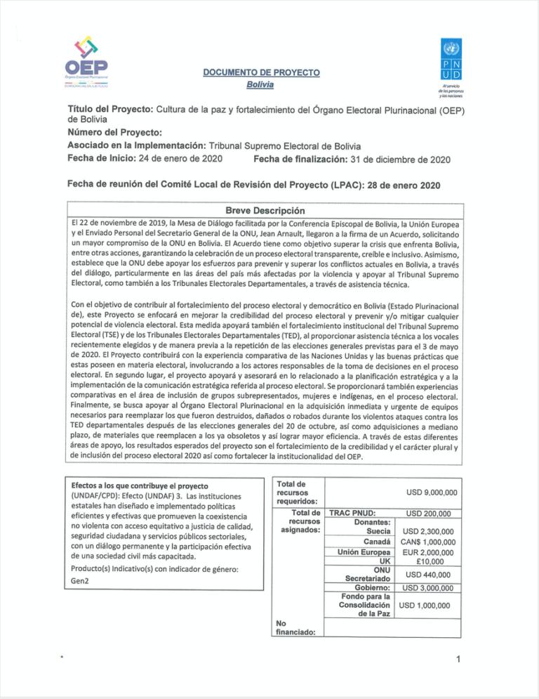 PNUD Bolivia Prodoc firmado